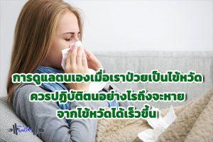 การดูแลตนเองเมื่อเราป่วยเป็นไข้หวัด